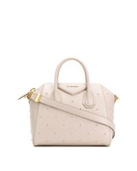 weiße beschlagene Shopper Tasche aus Leder von Givenchy
