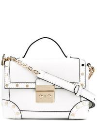 weiße beschlagene Shopper Tasche aus Leder von MICHAEL Michael Kors