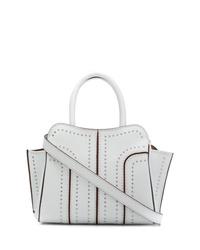 weiße beschlagene Shopper Tasche aus Leder von Tod's