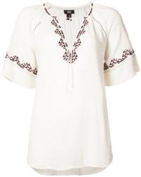weiße bestickte Bluse von Paige