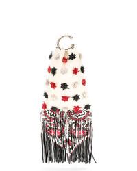 weiße bestickte Clutch von RED Valentino