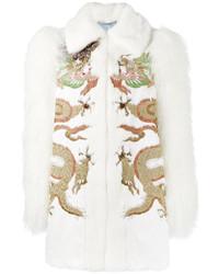 weiße bestickte Jacke von Gucci