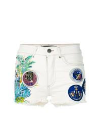 weiße bestickte Jeansshorts von Mr & Mrs Italy