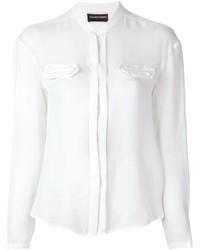weiße Bluse mit Knöpfen von Emporio Armani