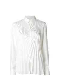 weiße Bluse mit Knöpfen von Maison Margiela