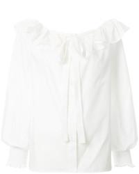 weiße Bluse mit Rüschen von Marc Jacobs