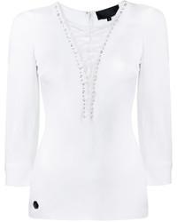 weiße Bluse von Philipp Plein