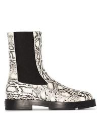 weiße Chelsea Boots aus Leder mit Schlangenmuster von Givenchy