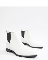weiße Chelsea Boots aus Leder von ASOS DESIGN