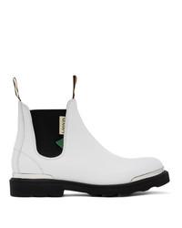 weiße Chelsea Boots aus Leder von Lanvin