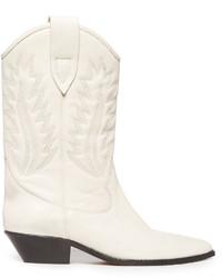 weiße Cowboystiefel aus Leder