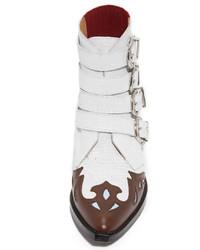 weiße Cowboystiefel aus Leder von Toga Pulla