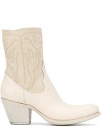 weiße Cowboystiefel aus Leder von Rocco P.