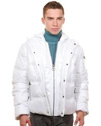 weiße Daunenjacke von Oboy Streetwear