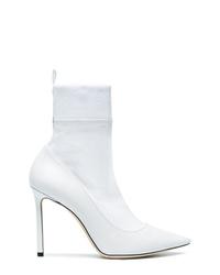 weiße elastische Stiefeletten von Jimmy Choo