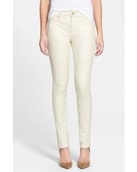 weiße enge Hose aus Leder