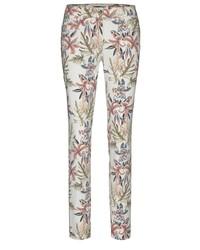 weiße enge Hose mit Blumenmuster von Atelier Gardeur