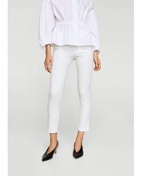 weiße enge Hose von Mango