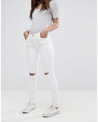 weiße enge Jeans mit Destroyed-Effekten von Glamorous