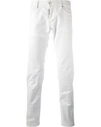 weiße enge Jeans