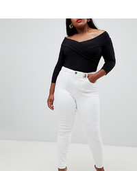 weiße enge Jeans von Asos Curve