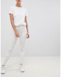 weiße enge Jeans von ASOS DESIGN