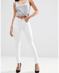 weiße enge Jeans von Asos