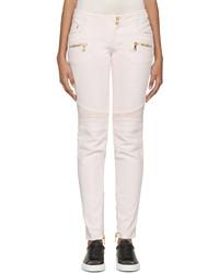 weiße enge Jeans von Balmain