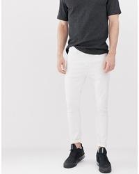 weiße enge Jeans von Bershka
