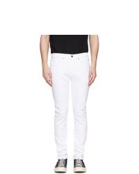 weiße enge Jeans von Frame