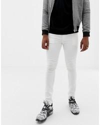 weiße enge Jeans von Jack & Jones