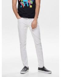 weiße enge Jeans von ONLY & SONS