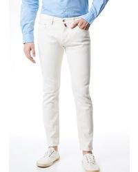 weiße enge Jeans von Pierre Cardin