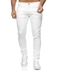 weiße enge Jeans von Redbridge
