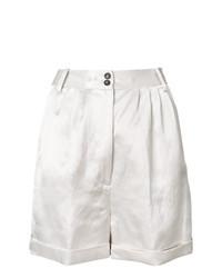 weiße Falten Leinen Shorts von Forte Forte