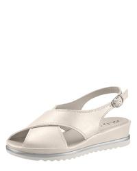 weiße flache Sandalen aus Leder von Aco