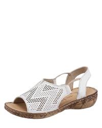 weiße flache Sandalen aus Leder von AIRSOFT
