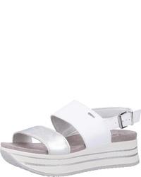 weiße flache Sandalen aus Leder von IGI&Co