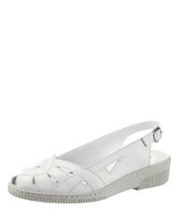 weiße flache Sandalen aus Leder von Kiarteflex
