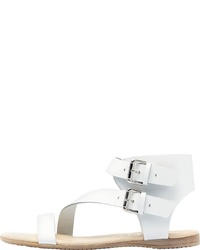 weiße flache Sandalen aus Leder von PoiLei
