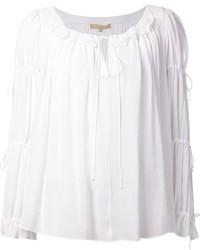 weiße Folklore Bluse von Michael Kors