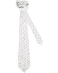 weiße gepunktete Krawatte