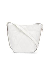 weiße gesteppte Shopper Tasche aus Leder von Givenchy