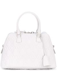 weiße gesteppte Shopper Tasche von Maison Margiela