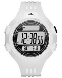 weiße Gummi Uhr