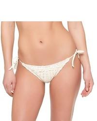 weiße Häkel Bikinihose