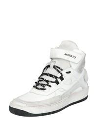 weiße hohe Sneakers aus Leder von Antony Morato