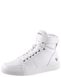 weiße hohe Sneakers aus Leder von BRUNO BANANI
