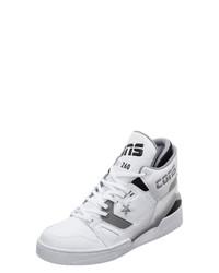 weiße hohe Sneakers aus Leder von Converse