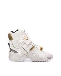 weiße hohe Sneakers aus Leder von Maison Margiela